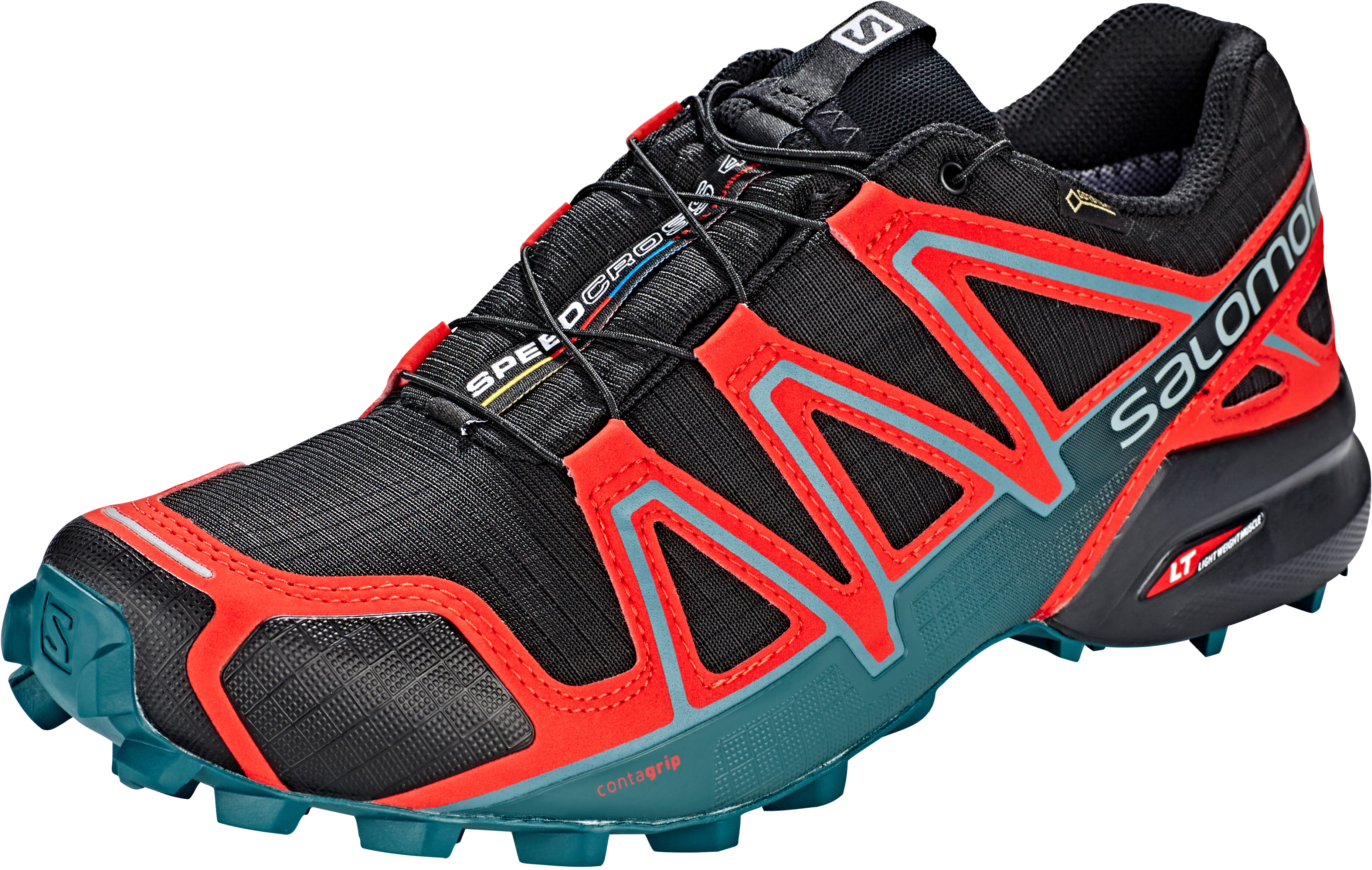 newest 036f6 5389b Salomon Speedcross 4 GTX - Chaussures running Homme - rouge noir